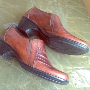 Clarks Partridge Leather Shoes Loafers Brown 9.5 M